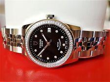 Tudor Glamour Black 10 Diamonds 36mm Watch Warranty - Brand New - 55020