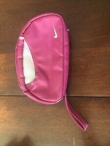 Nike Logo Wristlet Makeup Toiletry Travel Gym Bag Pink
