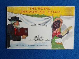 Antique John Knight The Royal Primrose Soap Advertising Postcard Trade Card