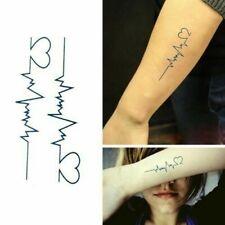 Flash Einmal Temporary Klebe Tattoo Herz Herschlag Körper Body Geschenk Party