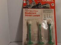 Lionel separate sale 027 boulevard street lamps no B76 in plastic wrap