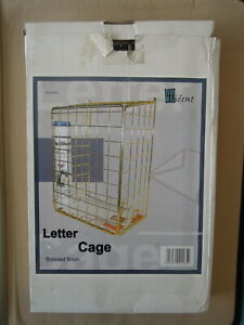 Large Trident Brass Finish Letter Cage