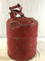 VINTAGE 5 GALLON METAL SAFETY GAS CAN K1