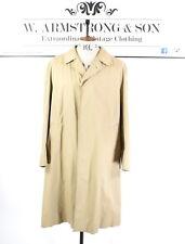 Men's VTG 80's Beige AQUASCUTUM Cotton Overcoat Trench Mac Dapper MOD Coat XL