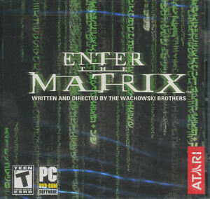 ENTER THE MATRIX - Classic Action DVD-Rom Atari PC Game - NEW SEALED!