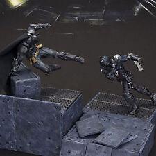 "8"" PLAY ARTS KAI Batman Series Arkham Knight Super Hero Action Figure with Scene"