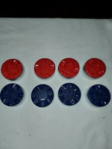 Sun-Glo Vintage Replacement Shuffleboard Weights Set of 8 Red/Blue RARE!!