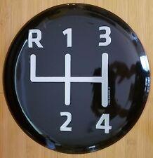 METAL BLACK SPEED STICK SHIFT KNOB DECOR automatic manual display plaque white