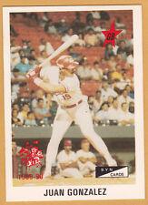 JUAN GONZALEZ CRIOLLOS DE CAGUAS ALL STAR OF UPDATE SET 1989-90 PR #52 OF 75