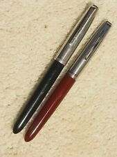 Pair of Parker 21 Fountain Pens - Red and Black Barrels