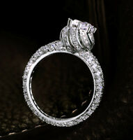 Ring Engagement Round diamond Gold White Cut 14k ct Solitaire Si1 D Halo White