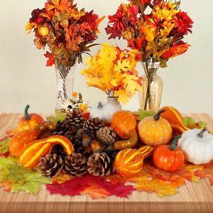 120PCS Artificial Mini Foam Pumpkin Simulation Props Party Halloween Decoration