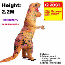 2.2M INFLATABLE DINOSAUR Dinosaur Costume Adult Jurassic World Park T-Rex Blowup