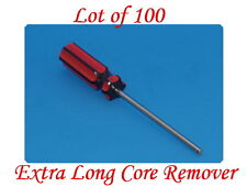 Lot of 100 Extra Long Valve Stem Core Remover Tire Repair Tool Red & Black Hand
