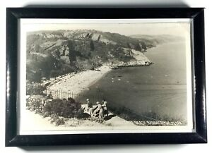 Vintage Photographic Postcard 1955 Oddicombe Beach Babbacombe 24765 Framed