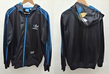 ADIDAS CHILE 62 Veste Jacket Shiny Black Hoody Capuche - Size L - Streetwear