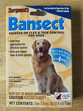 2 X Sergeants Bansect Flea & Tick Control Treatment Medicine For Dog Over 33 Lbs