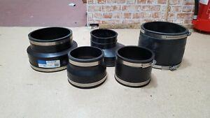 Underground Drainage Flexi Clay To Plastic Adaptors & Couplers FREE P&P OVER £30