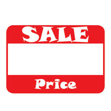 "Self-Adhesive Sale Price Rectangular Retail Sticker Labels, 2"" L x 1.1"" 500 Pack"