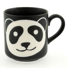 Japanese Porcelain Sushi Tea Mug Cup Kawaii Black Happy Panda Face Made in Japan