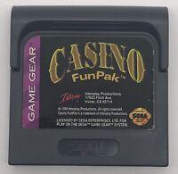 Casino Funpak Sega Game Gear Cartridge Only