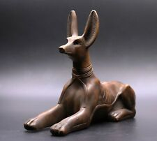 Rare Ancient Egyptian Anubis Egypt Antiques Dog Statue Brown Stone Bc