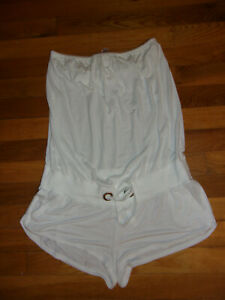 Victoria's Secret Size Small WHITE romper strapless EUC FAST SHIPPING