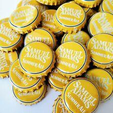 Yellow Sam Adams Summer Ale Bottle Crown Caps. *Sanitized* Excellent Condition