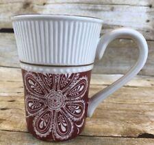 Baum Brothers MARRAKESH Coffee Latte Mug Cup Red Replacement Floral Mandala