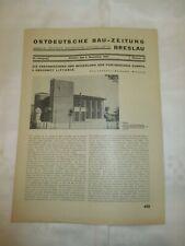 1933 Besiedlung Sümpfe  LITTORIA (Latina ) - OSTDEUTSCHE BAU ZEITUNG BRESLAU
