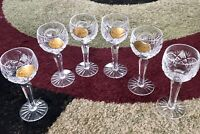 BOHEMIAN CZECH GLASSES HAND CUT  6 PEACES 5""