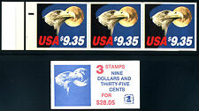 1909a $9.35 Eagle & Moon: Booklet Pane of 3, NH Mint