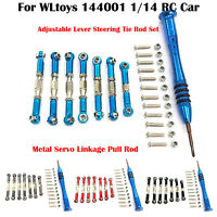 Metal Servo Linkage Pull Rod (Set) for WLtoys 144001 1/14 RC Car Upgrade Parts