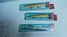 Lot of 3 Rapala Floating Kelluva Lures 11G 13G 13S with Boxes