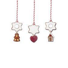 Hutschenreuther Weihnachten Candyland Baumschmuck 3 Baumanhänger ''Zimtsterne''