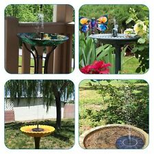 Solar Bird Bath Garden Birdbath Fountain Pump Stable Outdoor Water Feeder