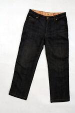 Alviero Martini Prima Classe 3/4 Dark Grey Jeans Denim Straight Capri W27 uk10