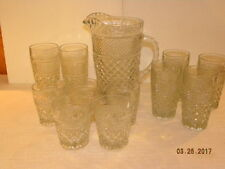 Anchor Hocking Pitcher and Glasses Wexford Pattern