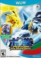 Pokken Tournament w/ New Bonus Amiibo Card Nintendo Wii U COMPLETE pokemon