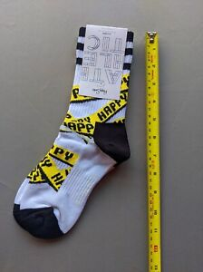 Happy Socks Mid-Calf  Unisex Mens UK 4-7 cotton - Fancy - black yellow white