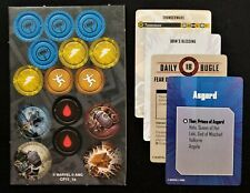 Marvel Crisis Protocol Thor and Valkryie ONLY Tactics Cards, Tokens NO MINIS