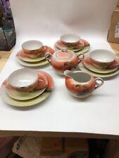 14 Piece ANTIQUE JAPANESE  HAND PAINTED Tea Set