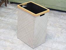 Natural Woven Pandan Black Laundry Basket Hamper [2 PACK]