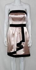 M60 Miss Sixty NEW Size 12 Strapless Velvet Trim Stain Beige Dress