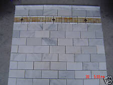 MARBLE Carrera 3x6 subway polish TILE mosaic carrara