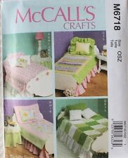"""18"""" DOLL BEDDING ENSEMBLE for BED-NIGHT STAND McCalls Pattern 6718/P329 NEW"""
