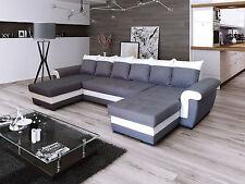 Ecksofa Latte U Couch Sofa mit Schlaffunktion! Eckcouch Sofagarnitur  Modern 01