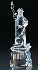 New Crystal World Lady Liberty Colored Base Figurine