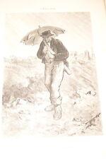 GAVARNI GRAVURE 1869 FEVRIER LES DOUZE MOIS DERNIERE OEUVRE  R1527