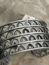 LUCKY BRAND WIDE CUFF SILVER TONE BRACELET JLRY4540 NEW WITH TAG